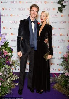 Poppy Delevingne displays major cleavage with very low-cut velvet tuxedo | Daily Mail Online