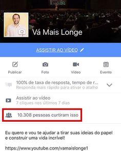 E o Vá Mais Longe no Facebook já passou de 10 mil pessoas juntas atingindo grandes objetivos! #vamaislonge Vá Mais Longe