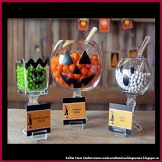 Dollar Store Crafter: Halloween Candy Station Made With Dollar Store Ite...
