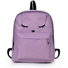 SheIn(sheinside) Cartoon Eyes Printed Backpack ($8) ❤ liked on Polyvore featuring bags, backpacks, purple, pattern bag, rucksack bags, comic backpack, comic book and purple bags