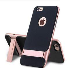 自分ご褒美・贈答に【高級質感】ROCKオリジナルiphone6s/6s Plusケースシリコン製耐衝撃iPhone7/6スタンド機能保護ケース男女通用かっこいい35%OFFで送料込