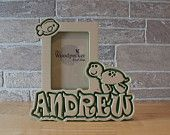 Sea creatures turtle themed personalized picture frame for kids, by name, color and theme.  50+ designs at  WoodpeckerWoodShop on Etsy