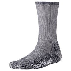 I absolutely love these Smartwool Trekking Heavy Crew Socks for hiking! They have just enough cushion to be comfortable but don't take up too much room in my boots. Even after wearing them on two Kilimanjaro treks and throughout four New England winters, they are still in great shape and have a few more years in them! Absolutely worth the investment.  (Katie's recommendation but  everyone in our office loves these too!)