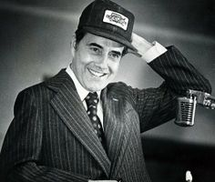 U.S. SEN. BOB DOLE dons a strike hat given to him in 1978 by FARMERS THREATENING TO STRIKE if farm prices were not raised.