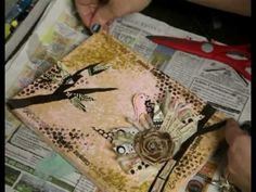 * Mixed Media Canvas - Love Birds Nest - inspired by Junelle Jacobsen *