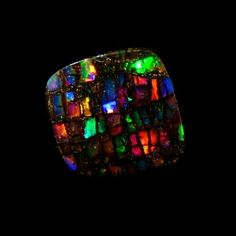 Yowah nut opal 'Stained Glass'