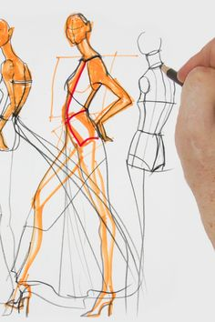 Learn  how to draw from a live model atUniversityofFashion.com. Fashion Art, Drawing Fashion, Live Model, Fashion Design Sketches, Illustration Sketches, Learn To Draw, Art Drawings, Illustrations, Drawing Drawing