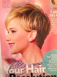 Jennifer Lawrence has the cutest pixie cut. Not everyone can wear it well.  -sr