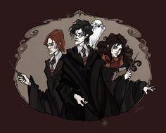 The Golden Trio by IrenHorrors.deviantart.com on @deviantART