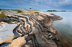 Photo 1 (above): Grantic rock patterns in eastern Georgian Bay at sunset. Landscape Photography, Nature Photography, Manitoulin Island, Canadian Painters, Lake Huron, O Canada, Little Island, Great Lakes, Natural Wonders