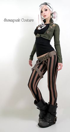 Vintage WWII military spats and a great jacket. by steampunk couture