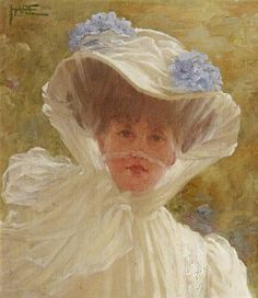 St George Hare  ' Lady Hoare, in a white hat' 1909