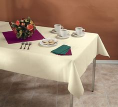 Paper linen-like tablecloths - $81-98 for 24