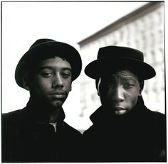 East 100th Street (Two Young Men in Hats), 1966-1968. Vintage gelatin silver print. © Bruce Davidson