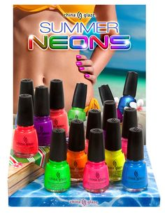 China Glaze Summer Neons Collection for Summer 2012