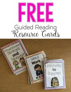 Guided Reading Resource Card FREEBIE--these cards have everything you need to know for each skill with all guided reading levels! They are GOLD!