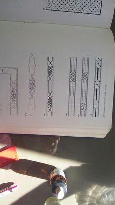 Border Pattern, Pattern Design, Illumination Art, Islamic Patterns, Tangle Art, Floral Design, Graphic Design, Islamic Art Calligraphy, Celtic Designs