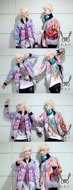 B.A.P's maknaes Zelo and Jong Up take a playful photo together #allkpop #kpop #BAP