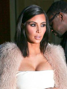 Kim Kardashian Mid-Length Bob