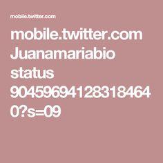 mobile.twitter.com Juanamariabio status 904596941283184640?s=09