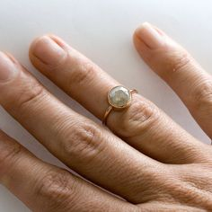 looks just like my engagement ring, grey diamond, rose gold