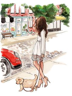 #Travel #Girls #Illustration #Cat #Fashion #Summer #Holiday #Vacation