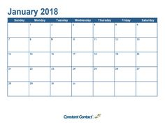 It's Here: Your 2018 Email Marketing Calendar | Constant Contact Blogs