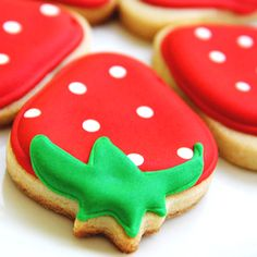 Strawberries-so sweet!  we need these during the winter to give us a little taste of summer. (sugar cookie pizza icing)