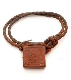 Africa   Leather amulet ~ ejap ~ from the Beja people of Sudan   20th century