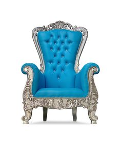King Throne Chair, King On Throne, Wingback Chair, Armchair, Royal King, Aspen, Household Items, Red Gold, Teak