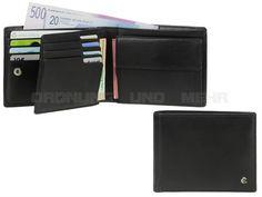 Esquire HARRY 49 - Leder Geldbörse (12KF) mit RFID Schutz Portemonnaie - schwarz