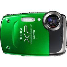 Fujifilm FinePix 14 MP Waterproof Digital Camera with Fujinon Optical Zoom Lens and GPS Geo-Tagging Function (Green)