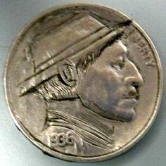 ARCHIE TAYLOR HOBO NICKEL - 1936 BUFFALO PROFILE Hobo Nickel, Archie, Buffalo, Coins, Profile, Art, User Profile, Art Background, Rooms