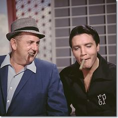 Colonel Tom Parker and Elvis Presley. Elvis can be the biggest goofball when need be