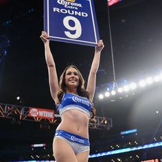 Boxing can be a bloody and ruthless sport. That's why we must give thanks to the person who invented the ring card girl...
