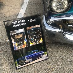 Check out these awesome #carshowboards for a very cool #57chevy #restomod ! Get one for your car at showcarsign.com #tri5 #tri5chevy #classicchevy #classiccars #customcars #carshow #carshows #chevyperformance #chevypower