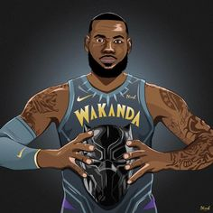"4,945 Likes, 56 Comments - andrew pietersz (@phresh.royalty) on Instagram: ""WAKANDA FOREVER. Saw these concepts on @nbaontnt and was inspired to draw this, as Pop said…"""