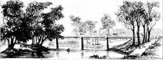 Bayliss in this article gives a wonderful insight and depiction of Wagga Wagga in the early years. (New South Wales) Historical Pictures, Bridge, The Past, Australia, River, History, City, Wall, Historia