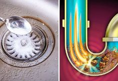 10 Fast and Cheap Ways to Unclog a Kitchen Sink Drain - Quick 5 minutes DIY Ideas Unclog Sink Drain, Cleaning Sink Drains, Kitchen Sink Clogged, Kitchen Sink Diy, Best Kitchen Sinks, Bathroom Sink Drain, Bathroom Cleaning, Drain Cleaner, Cleaners Homemade