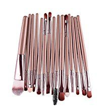 Internet 15 pcs/séries ombre à paupières Fondation Sourcils Lèvres Pinceau Maquillage Pinceaux Outil Or