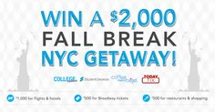 Win a NYC Getaway {US} (10/31/2016) via http://ift.tt/2cXRpLn IFTTT reddit giveaways freebies contests