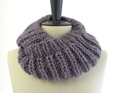 Knit Infinity Scarf in Lavender Gray Alpaca for $88.33. Really?! Simple garter stitch....I'm in the wrong business!