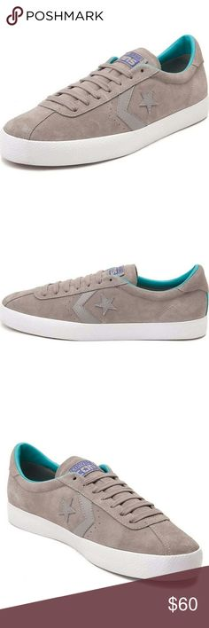 *NIB* Converse Cons Suede Break Point Ox New In Box Converse Cons Break Point Ox. Grey/Aqua/White Suede. Converse Shoes Athletic Shoes