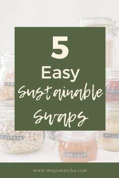 Are you a beginner when it comes to sustainability, zero waste, and eco-friendly practices? This list of 5 easy sustainable swaps is for you! Not only do these zero waste swaps save the planet, but they will also save money! These eco swaps will inspire to reduce your plastic waste, live more sustainably, and be more mindful too. #zerowaste #minimalism #sustainableliving #ecofriendly #lowwaste Plastic Waste, Save The Planet, Healthy Living Tips, Wellness Tips, Sustainable Living, Zero Waste, Mindful, You Can Do, Sustainability