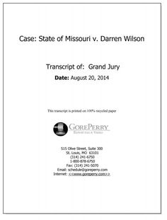 Documents and evidence presented to the grand jury that was deciding whether to indict Officer Darren Wilson in the shooting of Michael Brown.