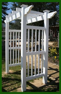 Simple white arbor to be deocroated with flowers of choice