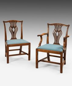 OnlineGalleries.com - A set of 8 Chippendale dining chairs.