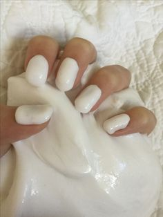 Super cute nails and satisfying slime.
