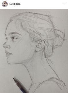 Sketch girl face, person sketch, woman sketch, woman drawing, art tip Face Sketch, Drawing Sketches, Pencil Drawings, Art Drawings, Sketching, Drawing Ideas, Face Pencil Drawing, Pencil Portrait Drawing, Portrait Sketches