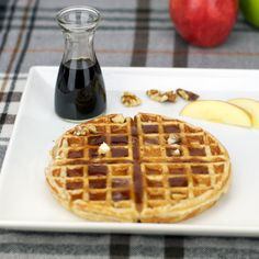Apple Cinnamon Waffles 2 cups all-purpose flour 3 Tablespoons sugar 2 teaspoons baking powder 1/2 teaspoon salt 2 large eggs - separated 1 and 1/4 cups milk 1/3 cup vegetable oil 1 apple - finely sliced 2 teaspoons cinnamon